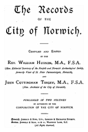 Cartulary 0182 - The Records of the City of Norwich