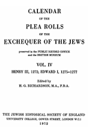 Cartulary 0193 - Calendar of the Plea Rolls of the Exchequer of the Jews