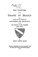 Cartulary 0201 - The Charters of the Priory of Beauly