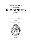 Cartulary 0208 - Essai Historique sur l'Abbaye de Saint-Martin d'Autun
