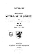 Cartulary 0209 - Cartulaire de l'église collégiale Notre-Dame de Beaujeu