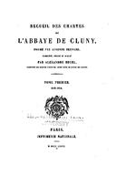 Cartulary 0214 - Recueil des Chartes de l'Abbaye de Cluny(Tome 1)