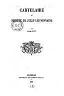 Cartulary 0223 - Cartulaire du prieuré de Jully-les-Nonnains