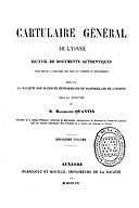 Cartulary 0235 - Cartulaire général de l'Yonne(Tome 2)