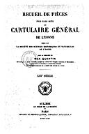 Cartulary 0236 - Cartulaire général de l'Yonne(Supplément)