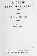 Cartulary 0238 - Lincoln 1186-1206 Volume 4(Part 2)