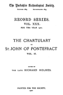 Cartulary 0292 - Chartulary of St. John of Pontefract(Volume 2)
