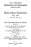 Cartulary 0294 - The Coucher Book of Selby(Volume 2)