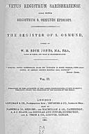Cartulary 0308 - Vetus Registrum Sarisberiense alias dictum Registrum St. Osmundi Episcopi [Salisbury](Volume 2)