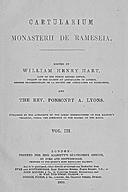 Cartulary 0314 - Cartularium monasterii de Rameseia [Ramsey](Volume 3)