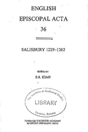 Cartulary 0339 - Salisbury 1229-1262 Volume 36(Part 3)