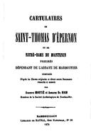 Cartulary 0483 - Cartulaire de Saint-Thomas d'Épernon et de Notre-Dame de Maintenon