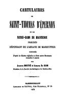 Cartulary 0484 - Cartulaire de Saint-Thomas d'Épernon et de Notre-Dame de Maintenon