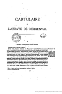 Cartulary 0486 - Cartulaire et censier de l'abbaye Notre-Dame de Morienval