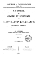 Cartulary 0491 - Recueil de chartes et documents de Saint-Martin-des-Champs(Tome 4)