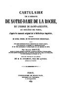 Cartulary 0497 - Cartulaire de l'abbaye de Notre-Dame de La Roche