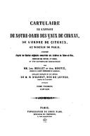 Cartulary 0502 - Cartulaire de l'abbaye de Notre-Dame des Vaux de Cernay(Part 1)