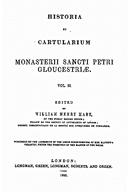Cartulary 0546 - Historia et Cartularium Monasterii Sancti Petri Gloucestriae [Gloucester](V.2)