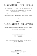 Cartulary 0584 - Early Lancashire Charters of the period from the reign of William Rufus to that of King John