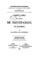 Cartulary 0614 - Cartulaire de l'abbaye de Sainte-Croix de Quimperlé