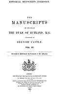 Cartulary 0617 - The Manuscripts of His Grace the Duke of Rutland preserved at Belvoir Castle
